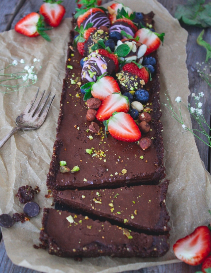 Gluten-Free Vegan Chocolate No Bake Tart